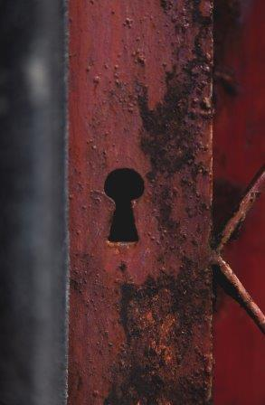 locked rusted by sea air