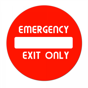 emergency exit panic doors